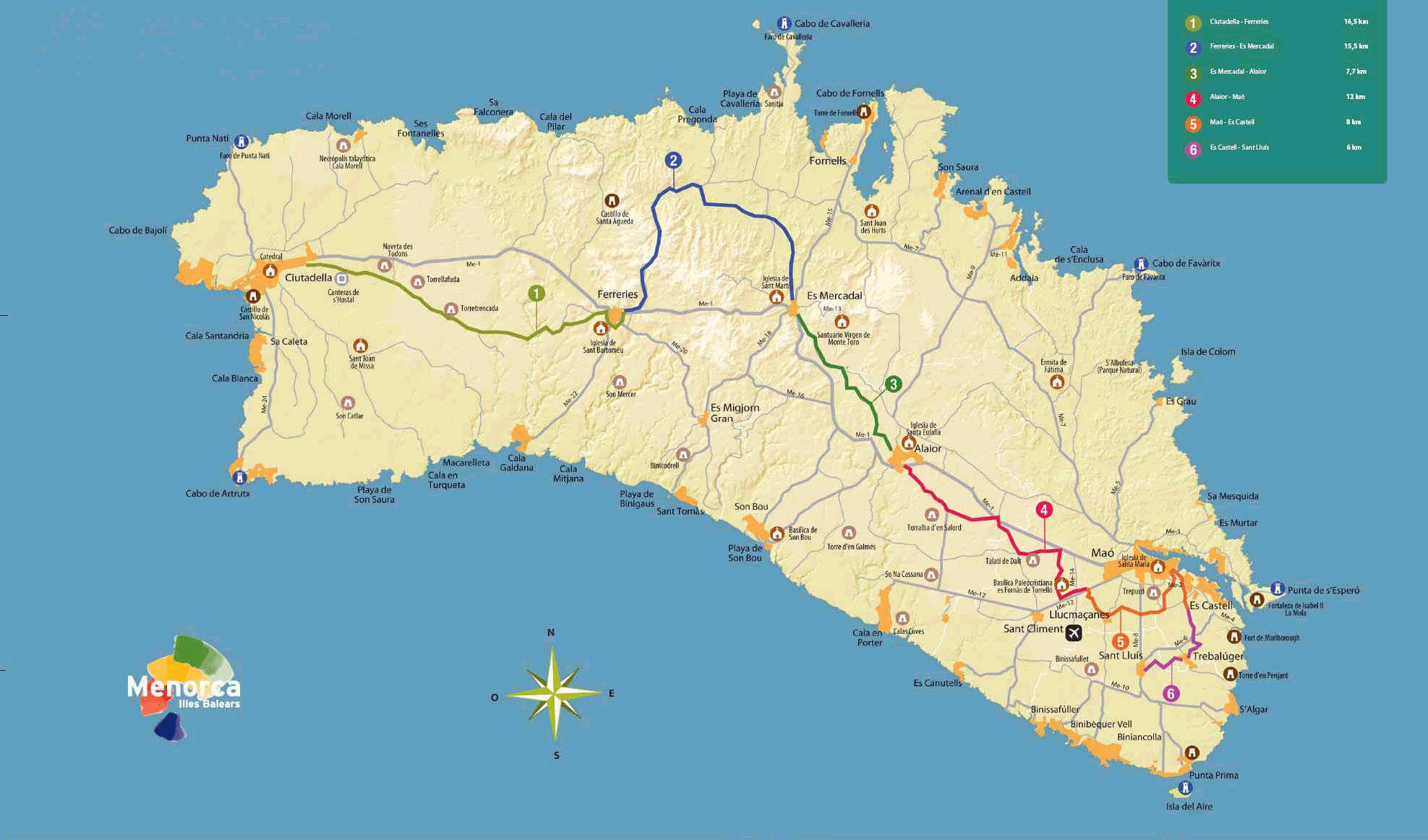 mapa_menorca_cicloturista