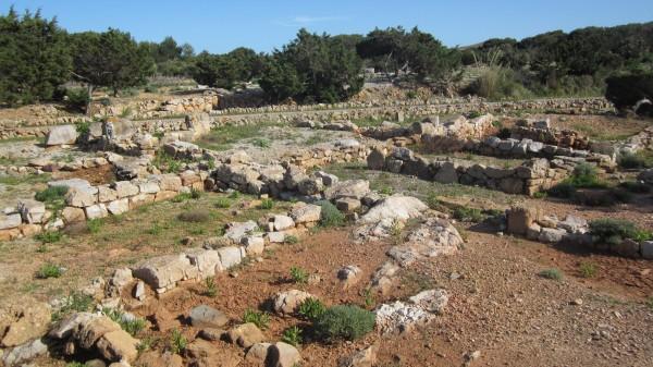 Vestigios de la época romana en Sanitja, Menorca