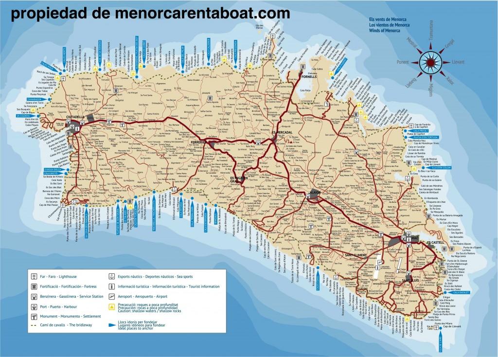 mapa de menorca menorcadigital